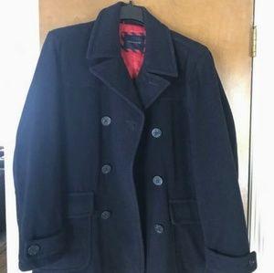 Mens Navy Pea Coat